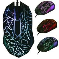 3200 DPI USB Wired Game 3D Mouse LED Gamer For Desktop PC Computer Laptop  Fast