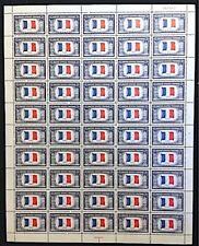 U.S:#915 5¢ OVERRUN COUNTRY FRANCE MINT SHEET/50 NH OG