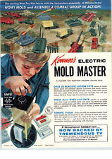 1964 PAPER AD 4 PG Kenner Electric Mold Master Army Tanks Road Builder Airplane