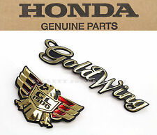 New Genuine Honda Side Cover Emblem Set 88-95 GL1500 Goldwing OEM Badges #P99