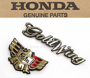 New Genuine Honda Side Cover Emblem Set 88-95 GL1500 Goldwing OEM Badges #P99