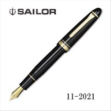 Sailor 1911 Profit21 M (Medium) nib Large Gold Black (BK) 21k fountain pen