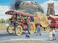 More details for garrett steam traction engine large steel sign 400mm x 300mm (og)