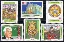 Turkmenistan 1992 Horse/Art/Jewellery/Gold/People/Theatre/Building 6v (n29174)