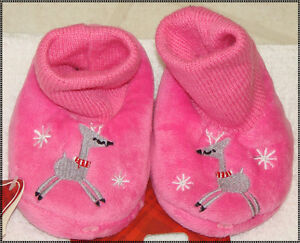 Boys or Girls Infant Christmas Slip-On Slippers:XS-
