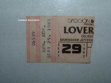 LOVERBOY 1983 Concert Ticket Stub BIRMINGHAM JEFFERSON CIVIC CENTER Very Rare