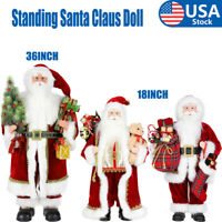 """18""""/36"""" Santa Claus Doll Home Decor Standing Father Christmas Figure Ornament US"""