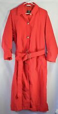 ORVIS Womens S Nylon Trench Packable Rain Coat Hot Pink EUC Belt & Pack Pouch