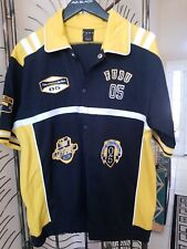 Fubu 05 Baseball Jersey Blue Yellow The Collection Mens Size L Embroidered