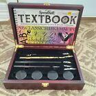 Speedball Art Hobby lettering set calligraphy 3 pens 5 tips in wooden case gift