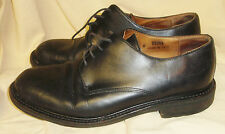 BARNEY'S NEW YORK 26064 Leather Men's Oxfords Black Lug Soles Italy Size 9M GUC