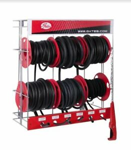 Gates Fuel Hose Rack with 6 x 7.5m Reels 3.2mm to 10mm 4986–10160