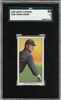 Rare 1909-11 T206 Frank Owen Sweet Caporal 150 Chicago SGC 60 / 5 EX