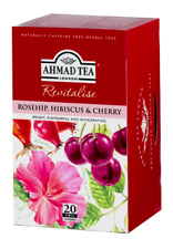 Ahmad Rosehip Hibiscus & Cherry 6 boxes of 20 ct tea bags NEW