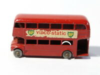 Vintage Lesney ROUTEMASTER No.5 Die Cast Red Bus BP VISCO STATIC Adverts