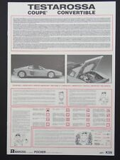 Pocher 1:8 Bauanleitung Ferarri Testarossa Coupe Convertible K59 neu