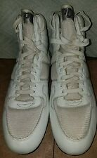NEW PONY WHITE HIGH TOP LEATHER & SYNTHETIC FOOTBALL CLEATS SIZE 17