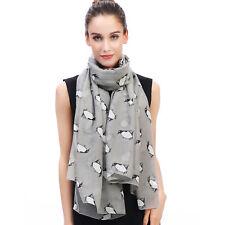 Penguin Animal Print Womens Scarf Shawl Sarong Wrap Soft Lightweight