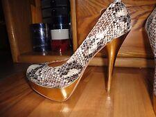 Womens classic Steve Madden Leopard Snake Print pumped heels shoes size 7,5M