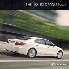 Lexus LS 600h Hybrid Exterior Colours Update 2010-11 UK Market Foldout Brochure