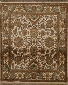 Floral Traditional Agra Oriental Area Rug Hand-knotted Foyer Carpet 4x4 Square