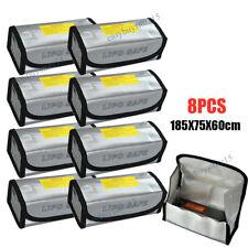 8pcs LiPo Lithium RC Safe Battery Guard Sack Charging Safe Bag Explosion Proof