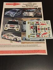 DECALS 1/43 FORD FOCUS WRC ARMIN MIKKELSEN RALLYE TOUR DE CORSE 2008 RALLY
