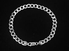 "925 Sterling Silver Comfort Curb 8.5"" 7 MM  12 GRAMS  chain/Bracelet   CRB180"