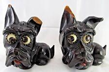 (2 Piece) Vintage ORIGINAL OSWALD West GERMANY DOG CLOCK ROTATING EYES Wood