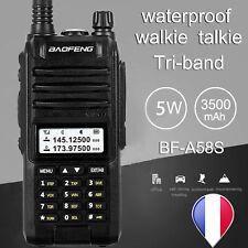 Baofeng A58S Talkies Walkie pro double bande 16 canaux longue portée UHF/VHF