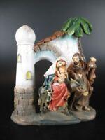 Heilige Familie auf der Flucht,15 cm Poly Figur,hochwertig
