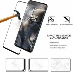 Full Screen Cover One Plus 7T,8T,6T,Nord N100 Tempered Glass Screen Protector