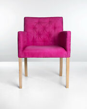 Armlehnstuhl HERGAN Polster Stuhl Sessel PINK Esszimmerstuhl Polsterstuhl