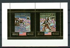 Cambodge Cambodia APOLLO 16 Space Espace 1972  Gold Foil Or MICHEL Bloc A 29 A
