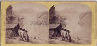 Ghiacciaio Da Rosenlaui Suisse Foto W.Inghilterra - Vintage Albumina Ca 1865