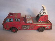 1950's SH Horikawa Fire Department Truck made in Japan battery operated  13 3/4""