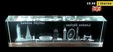 LONDON SKYLINE CRYSTAL GLASS 3D SOUVENIR GIFT