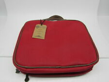 Bellemonde Red Canvas Hanging Cosmetic Bag Travel Kit for Men and Women