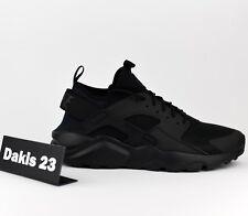9ff9f93e37a5 Men s Nike Air Huarache Run Ultra Shoe Triple Black 819685-002 Size 8