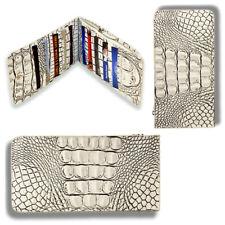 Raviani Wallet in Embossed Crocodile & Hair on Cowhide Leather
