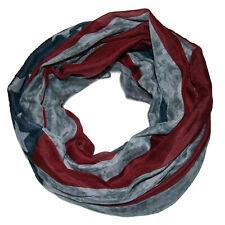 hochwertger ★ AMERIKA ★ USA batik Sterne Loop Schal ★ Stern grau blau