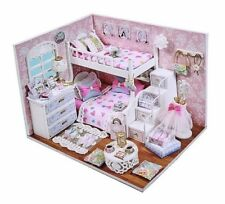 Doll House Dream Angels Bedroom DIY Room With Furniture 1:24 scale