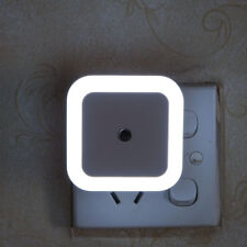 Auto LED Light Induction Sensor Control Bedside Night Light In Wall Lamp US EU