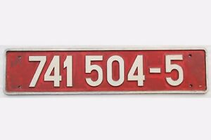 """Original Guss Lokschild / Loknummernschild """" 741 504-5 """" der CD / CSD - 3TRE201"""