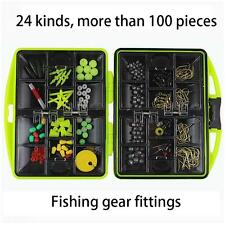New Fishing Tool Set Lure Bait Hook Tackle Box Storage Case With 24 Compartments