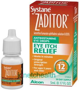 Systane Zaditor Eye Itch Relief Antihistamine Eye Drops Up to 12 Hours 0.17 oz