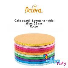 CAKE BOARD SOTTOTORTA ROSSO  diam. 35 cm vassoio tondo colorato Decora
