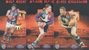 AFL Fremantle Dockers - Set of 6 Club issued cards 1999