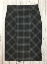 NWT Women's New York & Co. Gray Plaid Lined Skirt-Size 8