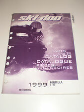 SKIDOO 1999 PARTS AND ACCESSORIES CATALOG MANUAL FORMULA S / SL